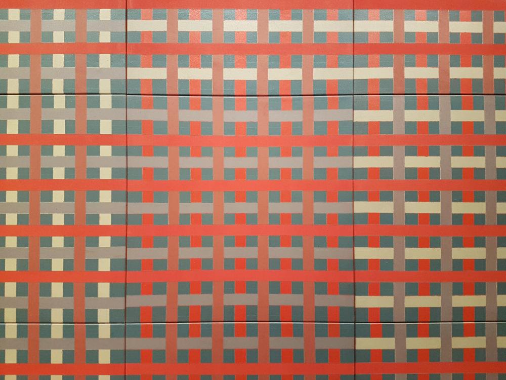 Red Composite, 1974, Acryl auf Leinwand, 228,6 x 228,6 cm
