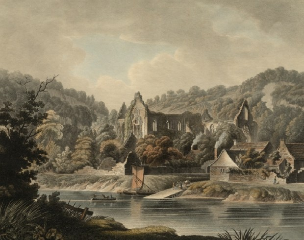 The View of Tintern Abbey on the River Wye, Nov. 1, 1799_Edward Dayes