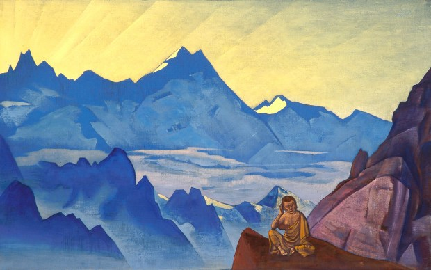 Milarepa, the One Who Harkened - Nicholas Roerich (1925)