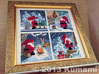 残りクリスマスと編み物本