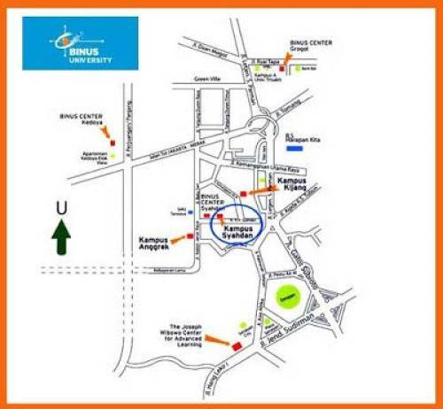Lokasi Kampus Binus University di Jakarta