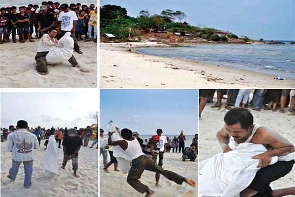 Permainan Antu Bubu di Pantai Lalang Belitung