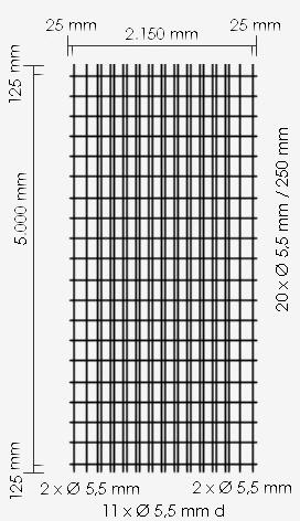 Betonstahl-Lagermatte R317