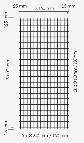 Betonstahl-Lagermatte R335A