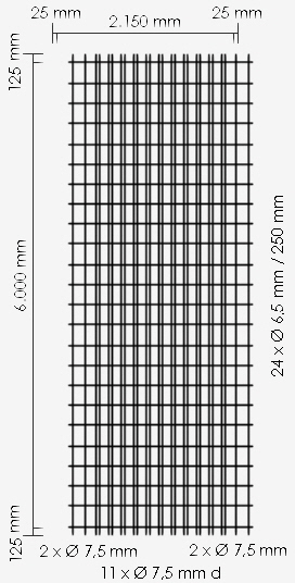 Betonstahl-Lagermatte R589