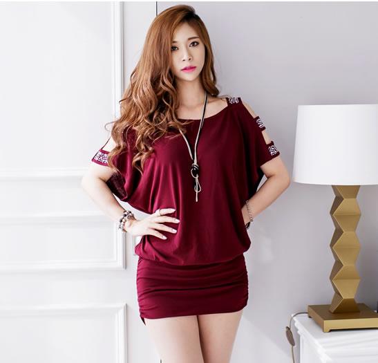 stylish dress red wd5654