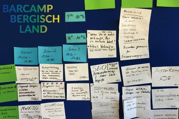 Barcamp Bergisch Land 2019 – Sessionplanung