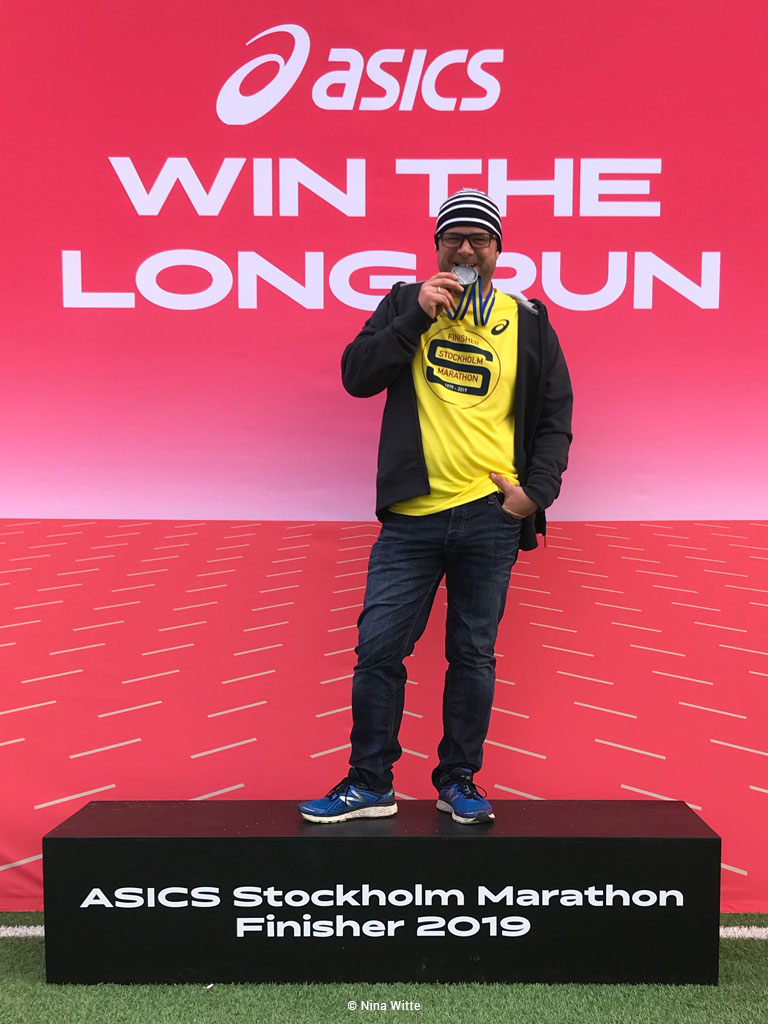 Marathoni Christoph Ziegler, Stockholm Marathon 2019 (Bild: Nina Witte)