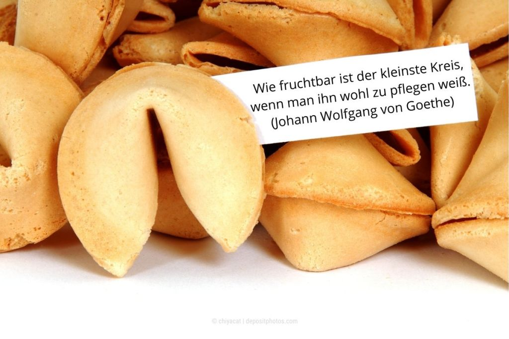 Glückskeks mit Goethe-Zitat (Photocredit: chiyacat via depositphotos)