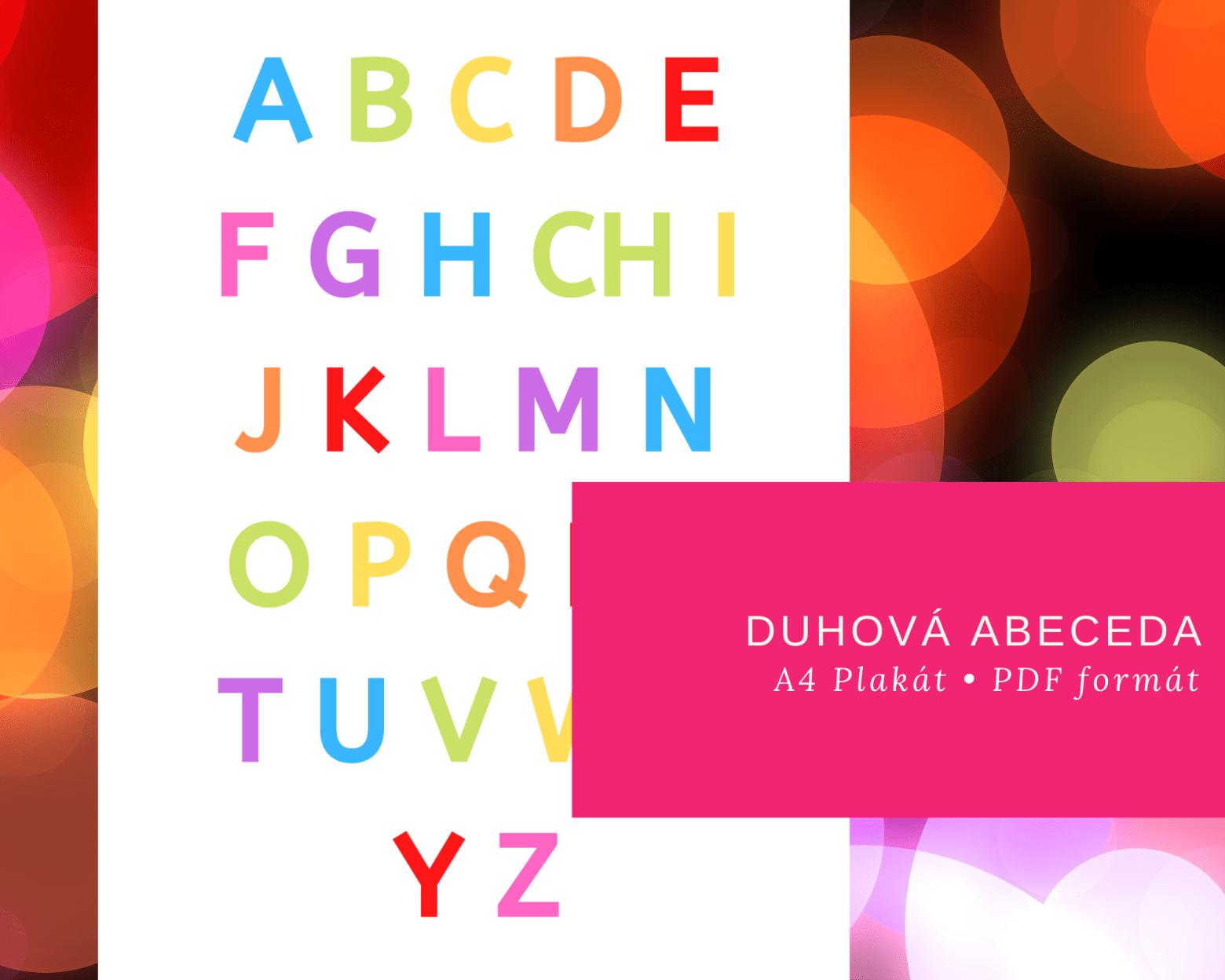 Jak se učit písmena? Například zduhového plakátu