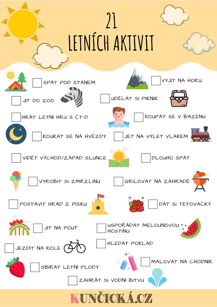 letní aktivity pro děti