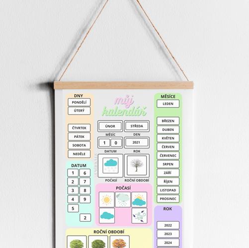 dětský kalendář zdarma