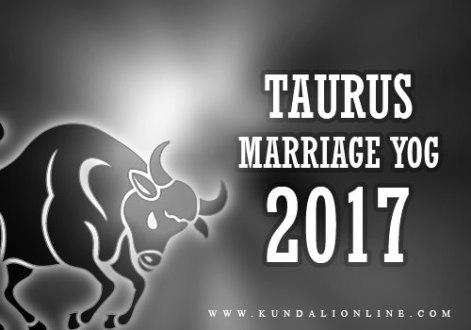 Taurus Marriage Horoscope 2017