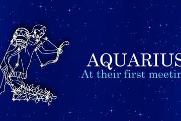 Aquarius at their first meeting