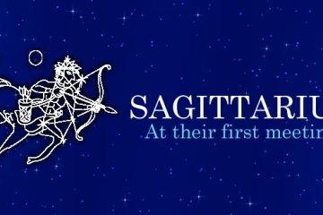 Sagittarius at their first meeting