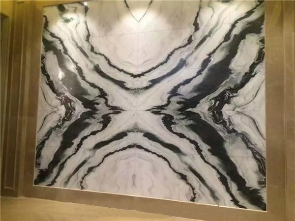 Panda white marble book match China Marble Slabs