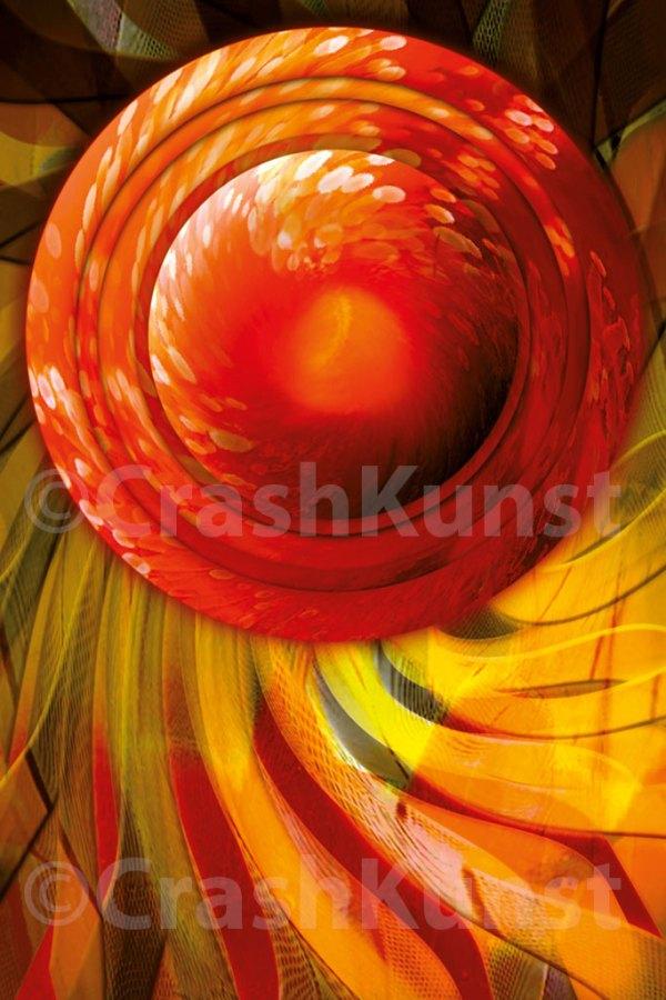 Kinetic Mandala, 30 x 20 cm