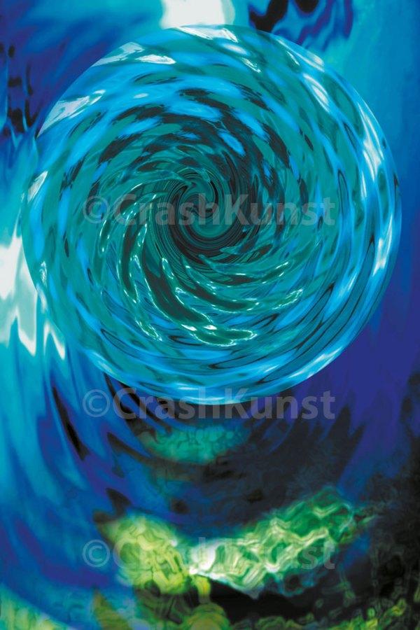 Kinetic Mandala, Druck auf Leinwand, 30 x 20 cm