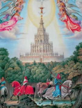 Carl Grünwedel: The Temple of the Holy Grail. Art Print, Canvas on Stretcher