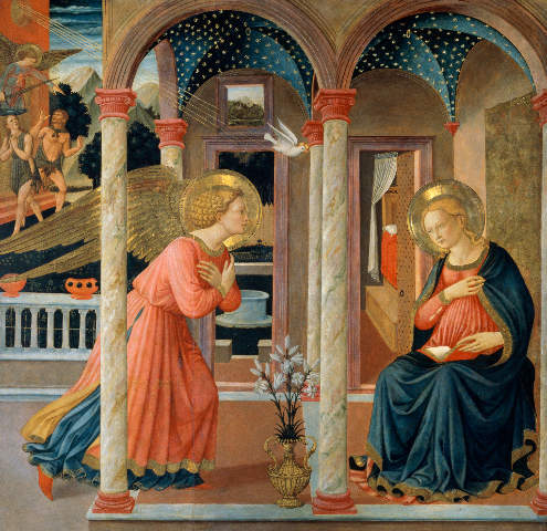Fra Angelico: The Annunciation. Art Print, Canvas on Stretcher ...