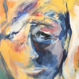 Gelb im Kopf, Acryl auf Leinwand 115x90cm