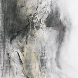 Rückenakt, Kohle und Acryl 100x70cm