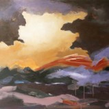 Ende des Sturms, Acryl auf Leinwand 100x80cm