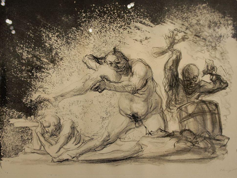 Max Slevogt, Paroxysmus der Vernichtung, 1917