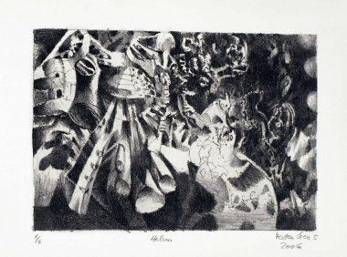 Merten Sievers Helm, Lithografie