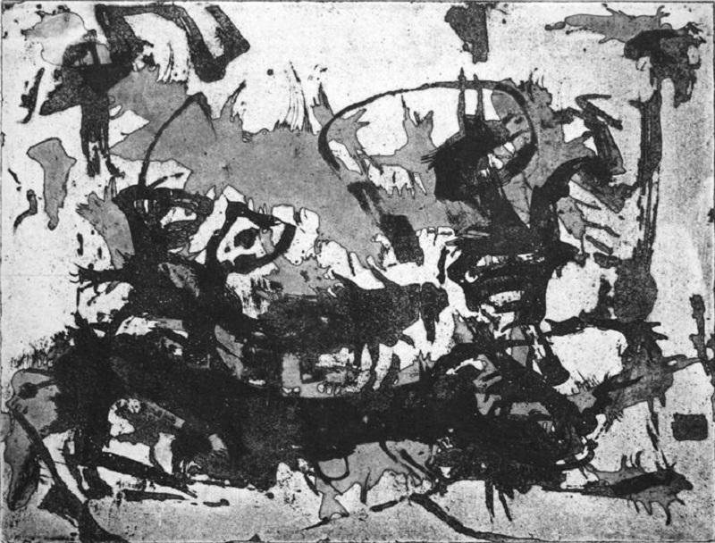 Mimi Wilden - Insekt schwarz (2000) Aquatinta-Radierung KunstGalerieHans