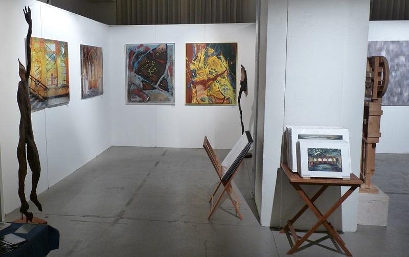 Stand der KunstGalerieHans auf der Kunstmesse Leipzig