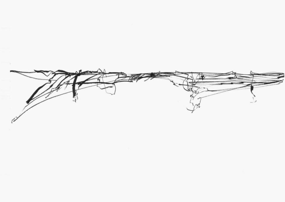 Elena Gluth - Horizon 01-3  (2015) - permanent marker on paper (29,5 x 40,7 cm)