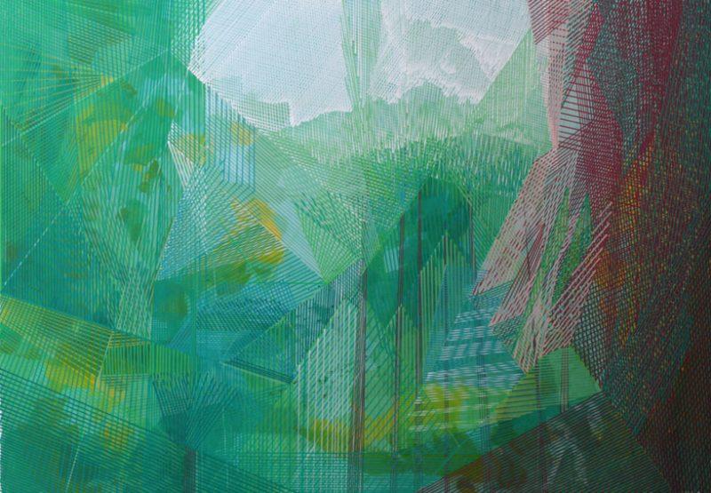 Michael Kirsch - Landschaft (2018), Acryl auf Malplatte 100 x 70 cm