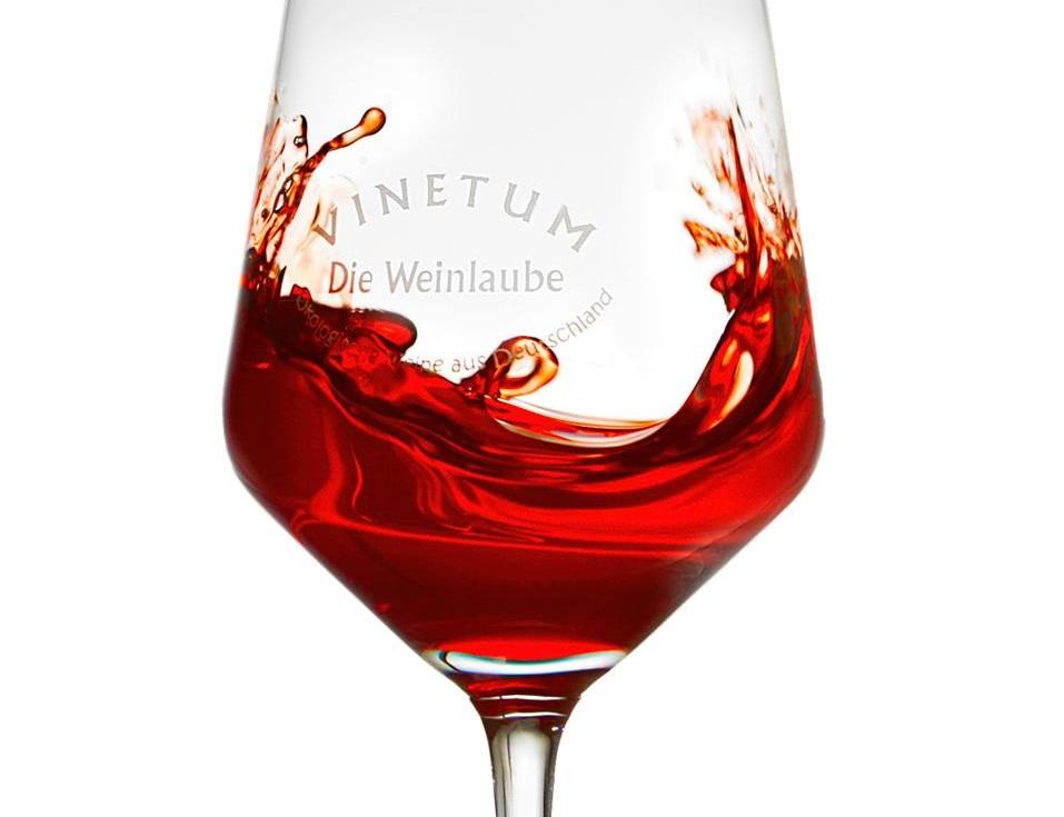 """Weinglas """"Vinetum - Die Weinlaube"""""""