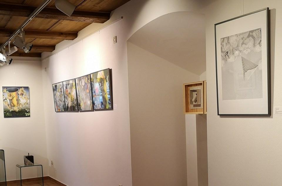 Blick in der Ausstellung Merten Sievers in der KunstGalerieHans 2019