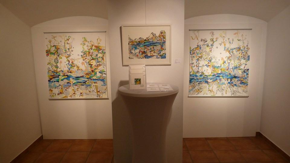 Ausstellung Landschaften - Zeichnungen Anja Kaufhold (KunstGalerieHans 2019)