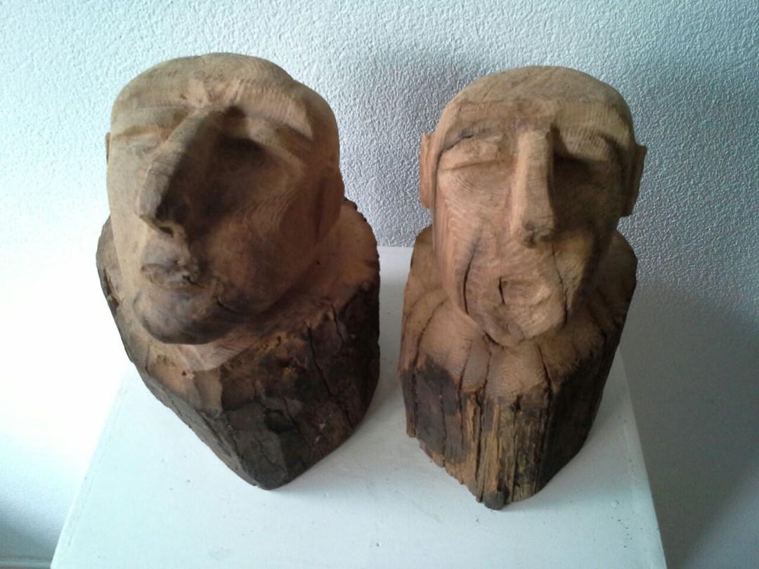 nog samen. eeuwen oud kastanje hout