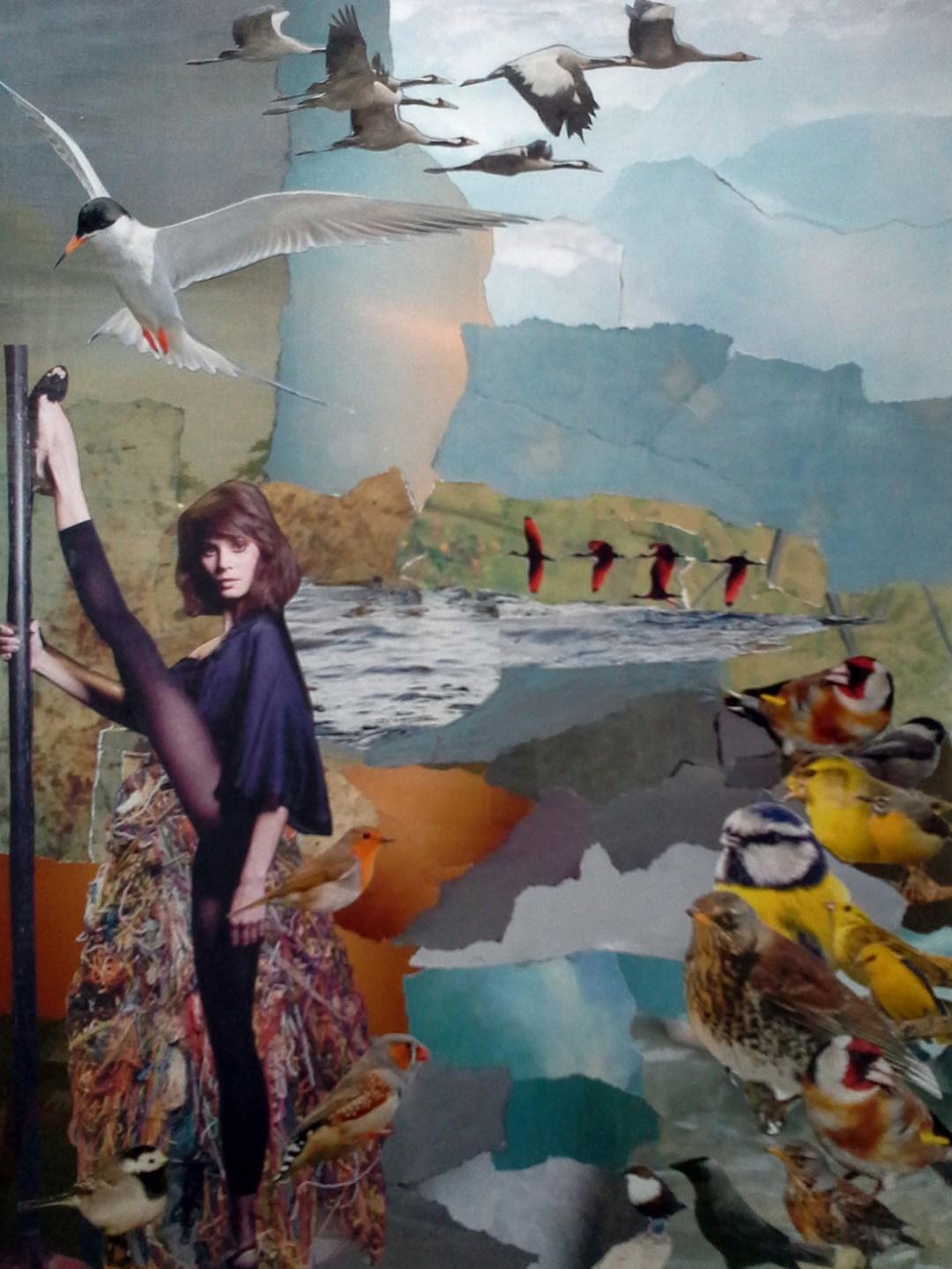 """Marten Bos, """"wat krijgen we nou"""", collage, 40 x 50 cm"""