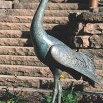 Edition Strassacker Bronzeskulptur Kranich Rufend Von Erwin A Schinzel Kunsthandel Lohmann De