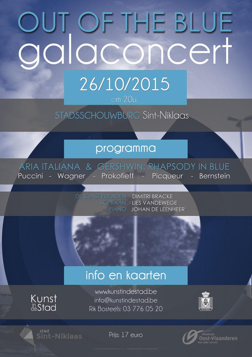 Galaconcert op maandag 26 oktober 2015 om 20u. in de Stadsschouwburg van Sint-Niklaas