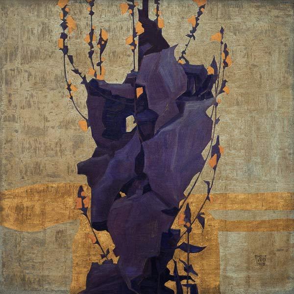 Stilisierte Blumen  Egon Schiele als Kunstdruck oder handgemaltes Gemlde