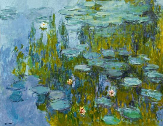 Seerosen Nymphas  Claude Monet als Kunstdruck oder