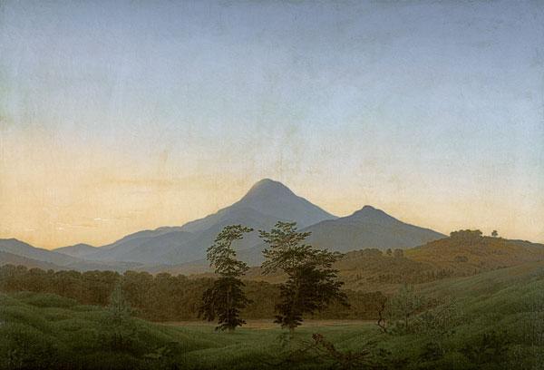 Bhmische Landschaft  Caspar David Friedrich als