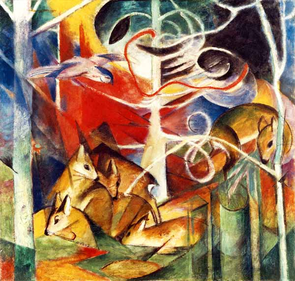 Image result for franz marc Deer in the Forest 1.