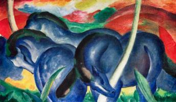 franz marc das blaue pferd malvorlage   Coloring and ...
