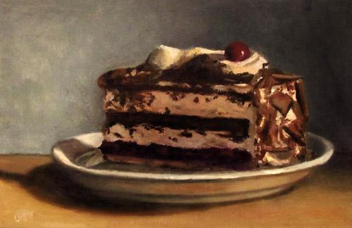 Ein Stck Schwarzwlder Kirschtorte  Kuchen Stillleben