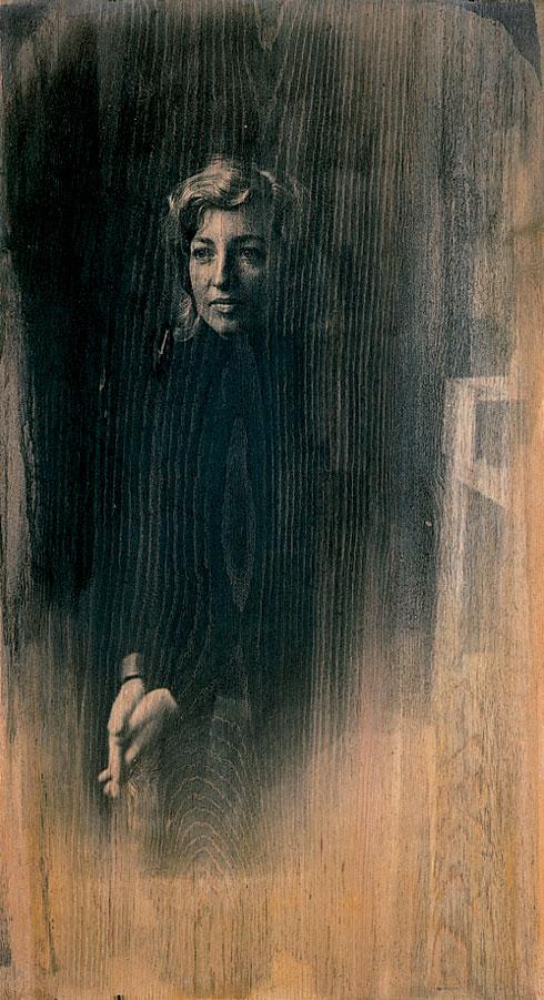 Den sydlige dør, 2003. Fotoemulsion på træ, 110 x 55 cm.