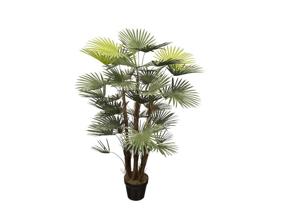 HTT Decorations - Kunstplant Rhapis palm (120 cm) - Kunstplantshop.nl