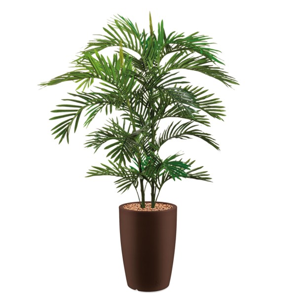 HTT - Kunstplant Areca palm in Genesis rond bruin H150 cm - kunstplantshop.nl