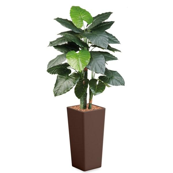 HTT - Kunstplant Philodendron in Clou vierkant bruin H185 cm - kunstplantshop.nl